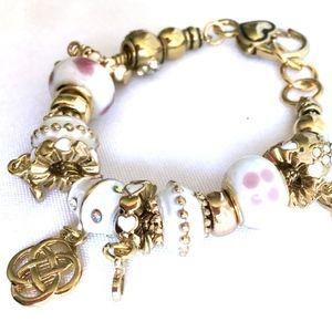 Jewelry - 3/$30! Celtic Knot Infinity White Charm Bracelet